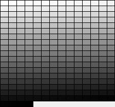 The grayscale palette
