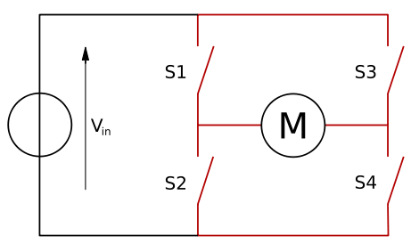 An H-Bridge in terms of switches