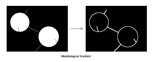 Morphological Gradient: Note that this highlights all the edges