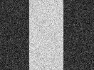 An image with gaussian noise