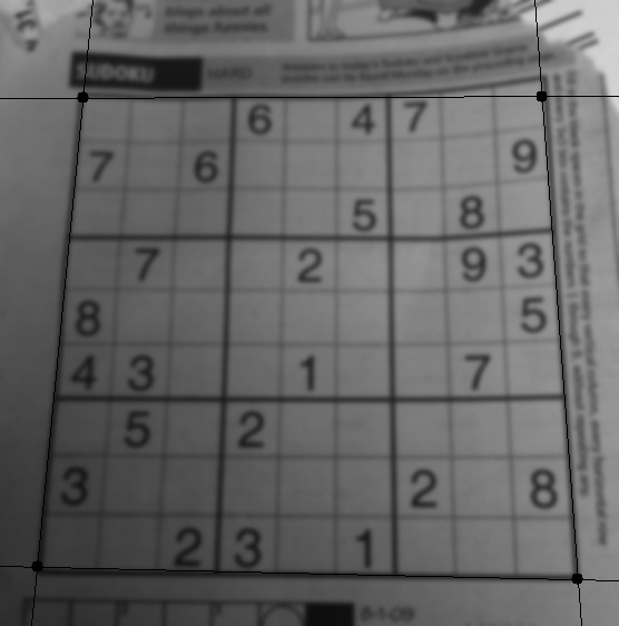 Spotted! The SuDoKu puzzle